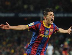 David Villa of Barcelona. Click image to expand.