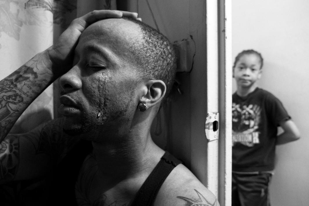 New York, New York, 2013. Jerell Willis having a tough day at home.