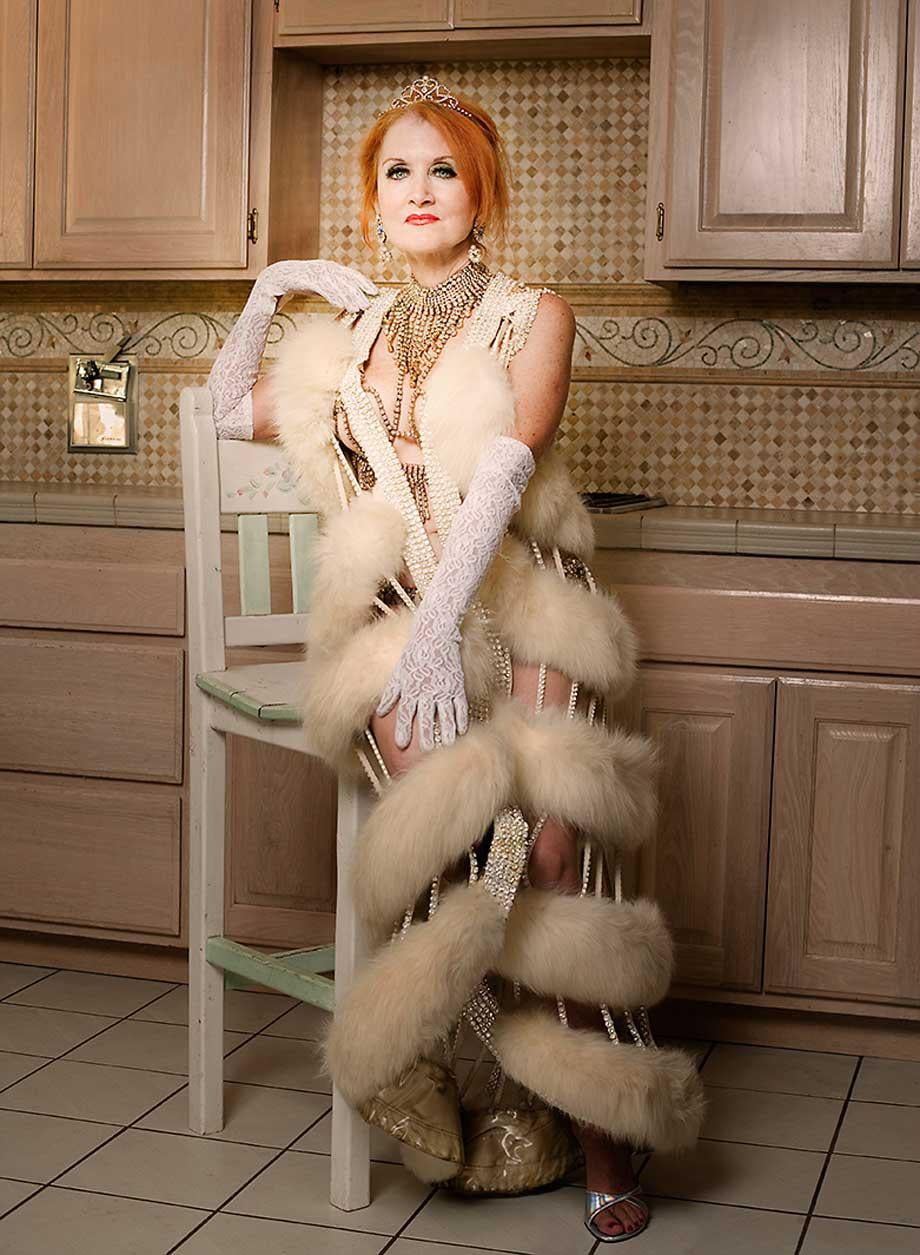 Stephanie Blake, photographed in the kitchen of her Simi Valley, California home. At the time, circa 2009, she was running a doggy daycare.