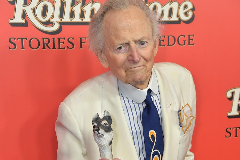 NEW YORK, NY - OCTOBER 30:  Tom Wolfe attends 'Rolling Stone Stories From The Edge' World Premiere at Florence Gould Hall on October 30, 2017 in New York City.  (Photo by Theo Wargo/Getty Images)