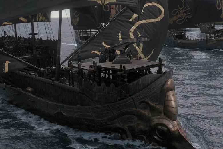 Euron Greyjoy's ship.