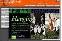 PETA website.         Click image to expand.