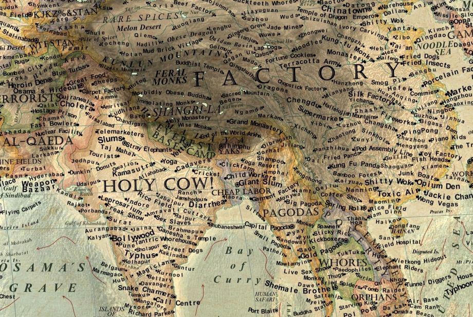 Martin Vargic S Map Of World Stereotypes Makes No Attempt At