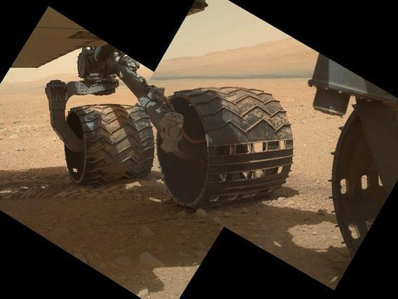 NASA's Mars rover Curiosity, taken by the rover's Mars.