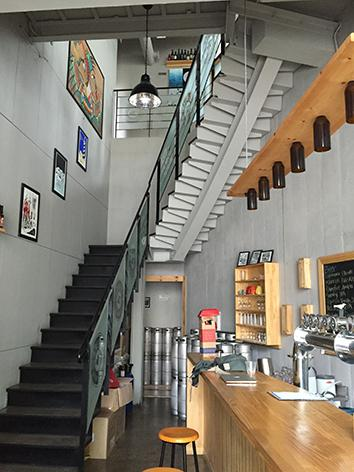 Galmegi Brewing Company's tap room.