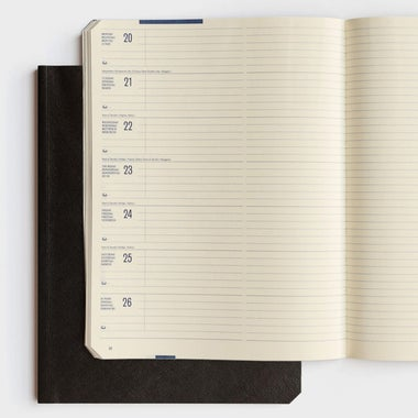 Brepols Back to Paper 2019 Diary Weekly Notebook A5 Soft Cover.