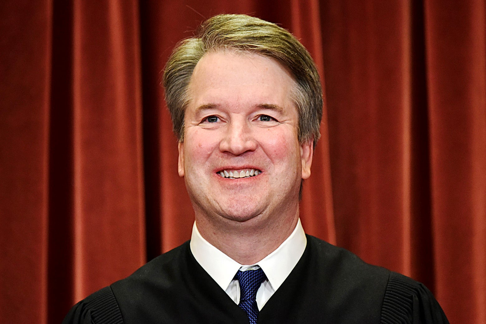 Brett Kavanaugh in a robe at the Supreme Court.