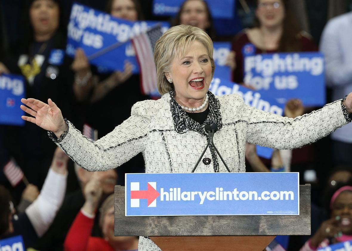 Hillary Clinton Opens Her South Carolina Victory Speech With a Swipe at Donald Trump