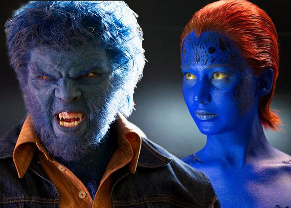 Nicholas Hoult as Beast and Jennifer Lawrence as Mystique in X-Men: Days of Future Past (2014)