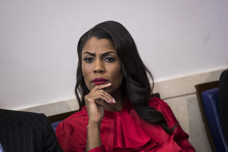 Omarosa at a daily press briefing.