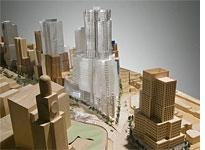 Gehry's Atlantic Yards proposal. Click image to expand.