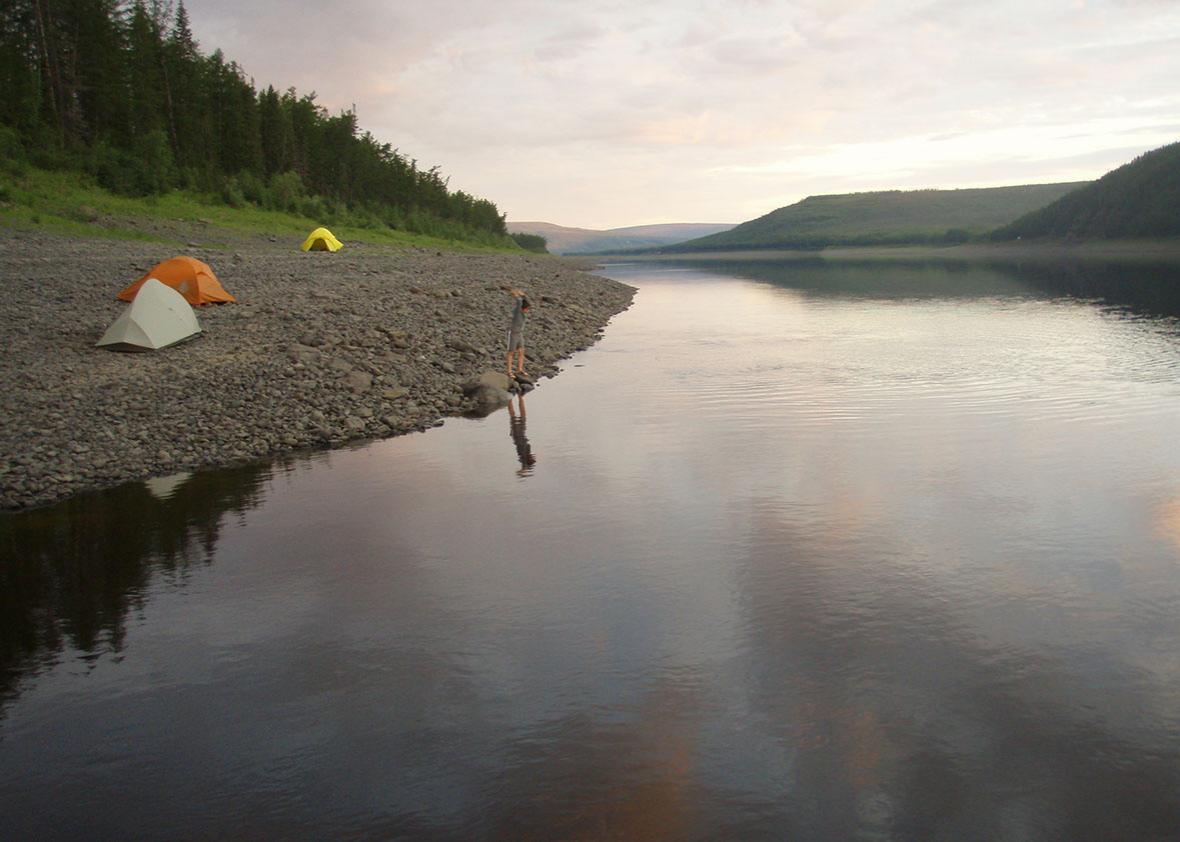 Camping in Tunguska, July 18, 2012.