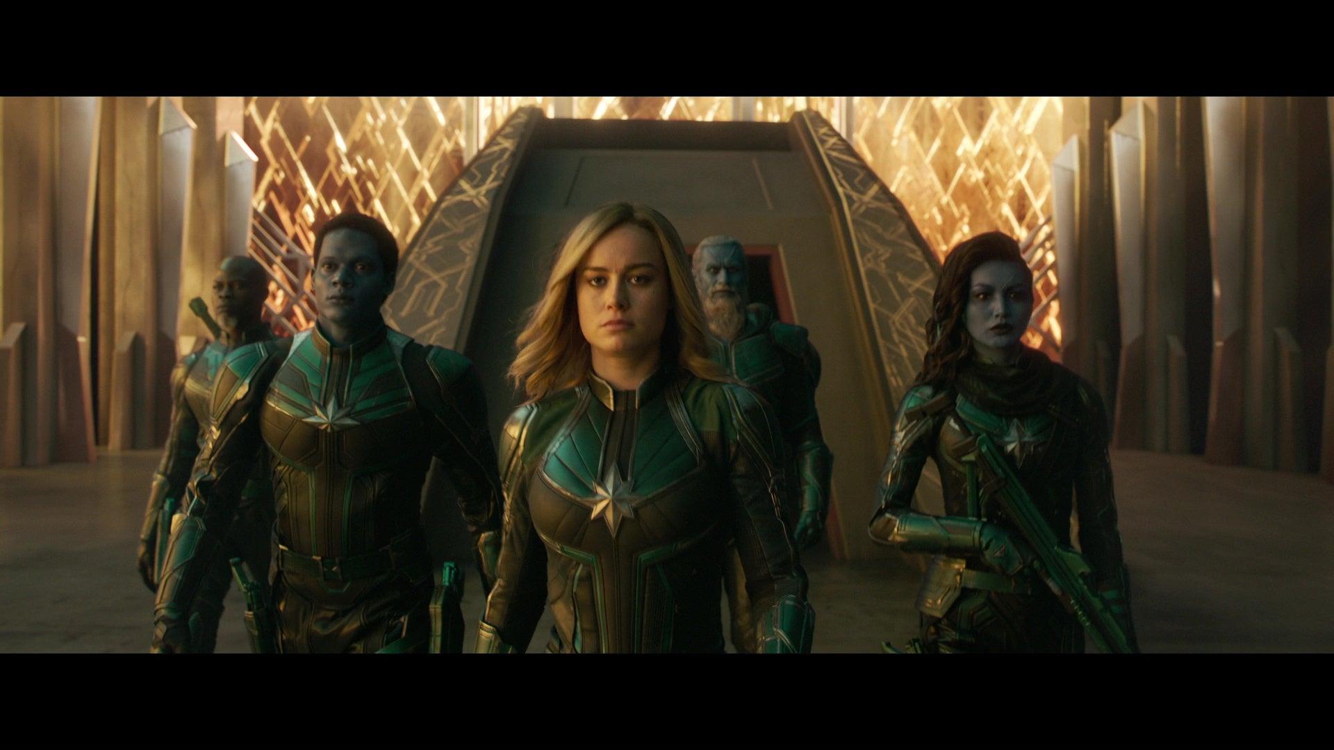 Brie Larsen in Captain Marvel.