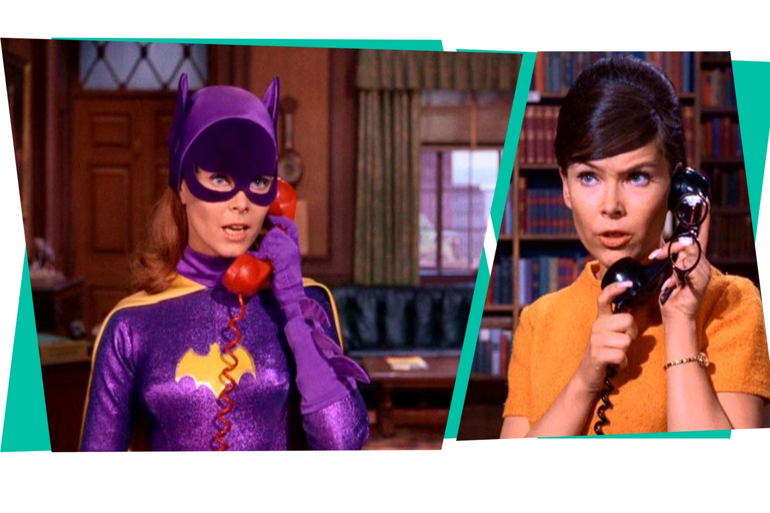 Yvonne Craig as Batgirl and as Barbara Gordon.