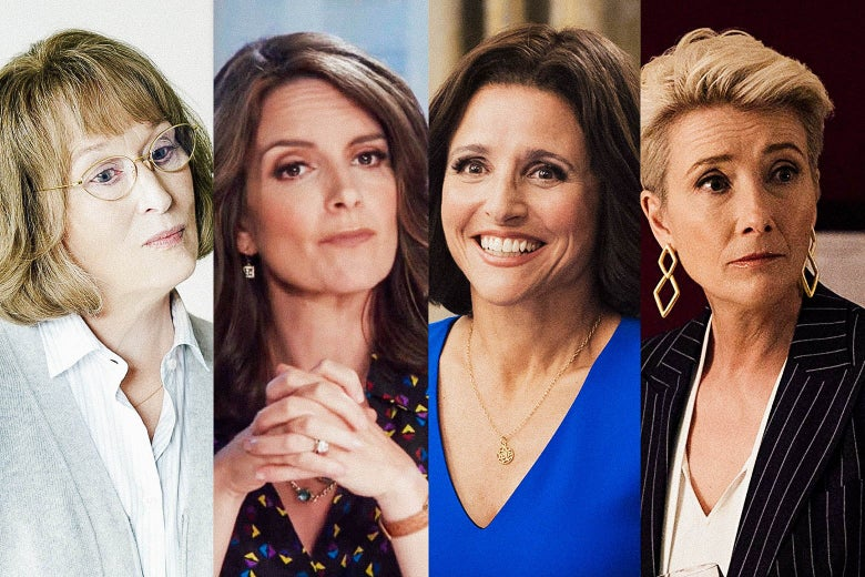 Meryl Streep, Tina Fey, Julia Louis-Dreyfus, and Emma Thompson.