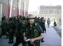 Fred Kaplan with Afghan National Army recruits in Kabul. Click image to expand.