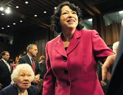 US Supreme Court nominee Sonia Sotomayor. Click image to expand.