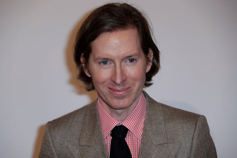 Wes Anderson on a red carpet.