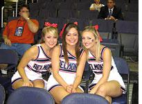 Belmont's auxiliary cheerleading squad. Click image to expand.