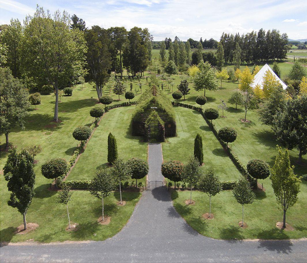 Tree Church in New Zealand by Barry Cox is a backyard