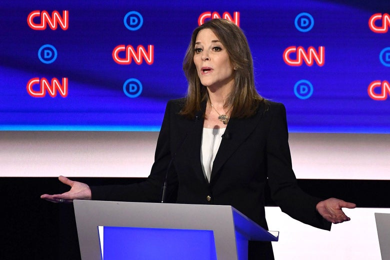 Marianne Williamson at the Democratic debate on Tuesday in Detroit.