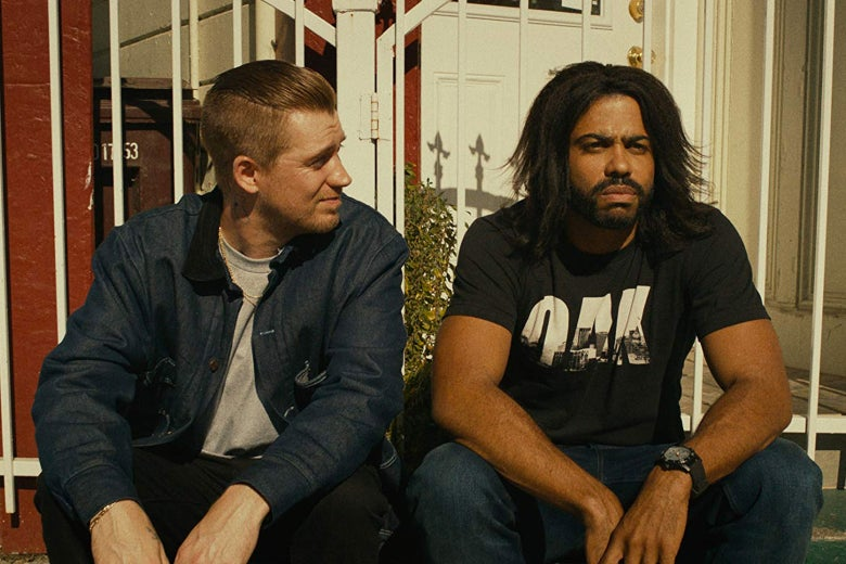 Rafael Casal and Daveed Diggs in Blindspotting,