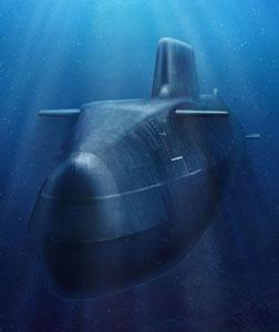 Royal Navy nuclear submarine. Click image to expand.