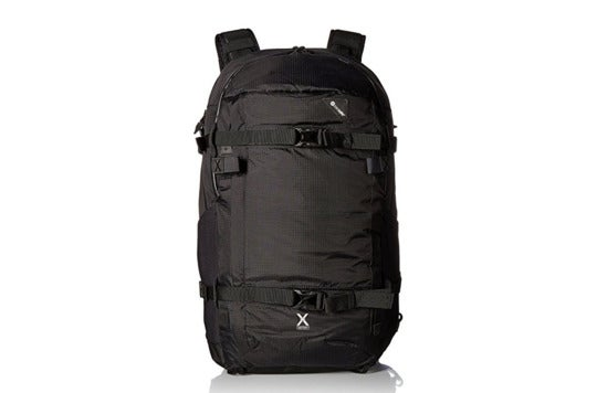 Black Pacsafe Venturesafe X40 backpack.