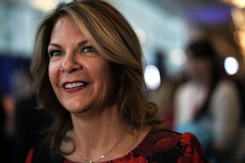 Kelli Ward shown attending CPAC 2018 in National Harbor, Maryland.