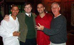 The author (second from left) with his brother, VCU coach Shaka Smart (second from right). Click image to expand.