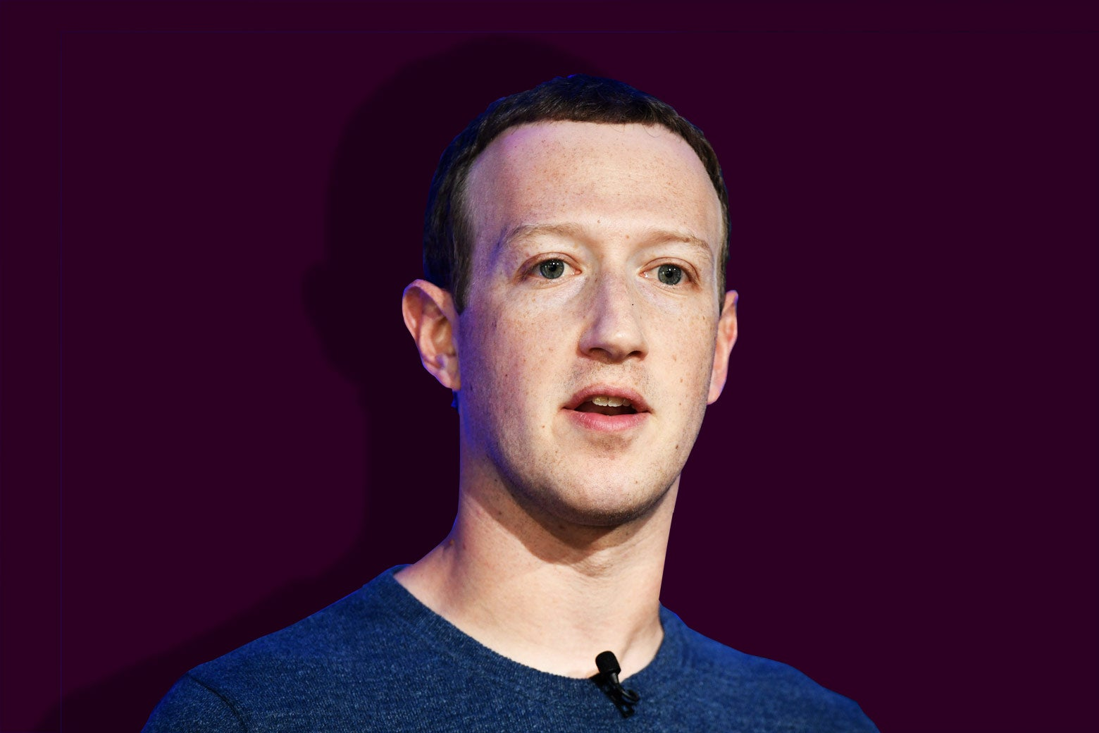 Mark Zuckerberg with a shadow behind him.