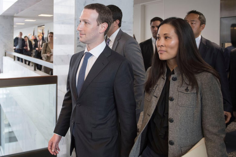 Mark Zuckerberg and Priscilla Chan (R) depart US Senator Bill Nelson's, D- Florida, office on Capitol Hill in Washington, DC, on April 9, 2018.Embattled Facebook chief Mark Zuckerberg has placed the blame for security lapses at the world's largest social network squarely on himself as he girded Monday for appearances this week before angry lawmakers.In prepared remarks released by a congressional panel, Zuckerberg admitted he was too idealistic and failed to grasp how the platform -- used by two billion people -- could be abused and manipulated. / AFP PHOTO / JIM WATSON