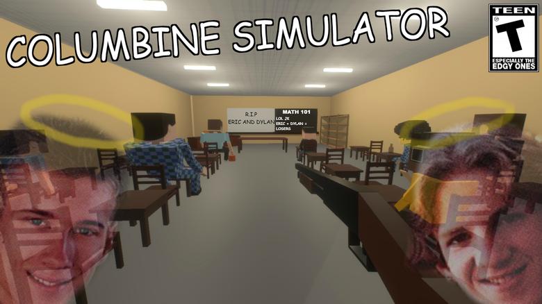 "A screenshot from the ""Columbine Simulator"" on Steam."
