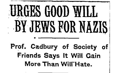 A headline from a New York Times article from June 15, 1934.