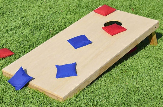GoSports Solid Wood Premium Cornhole Set.