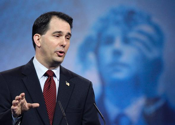 Wisconsin Governor Scott Walker (R-WI) speaks at the Conservative Political Action Conference (CPAC).