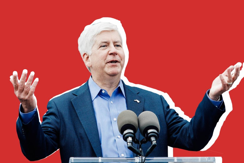 """Michigan Gov. Rick Snyder """"srcset ="""" https://compote.slate.com/images/8d9149e9-07e5-4a33-84a6-ebbc0afb98d8.jpeg?width=780&height=520&rect=1560x1040&offset=0x0 1x, https://compote.slate.com /images/8d9149e9-07e5-4a33-84a6-ebbc0afb98d8.jpeg?width=780&height=520&rect=1560x1040&offset=0x0 2x"""