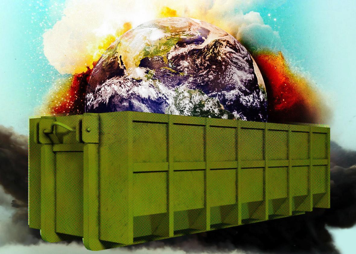 Donald Trump's dumpster fire administration + an already heating Earth = serious, serious trouble for humanity.