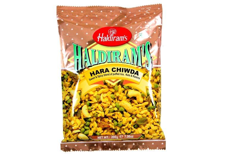A Haldiram's snack bag.