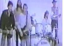 Still from Joseph Beuys' perky pop-music protest video, Sonne Statt Reagan.