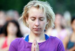 A yogi at the 2007 Yoga Aid Challenge.