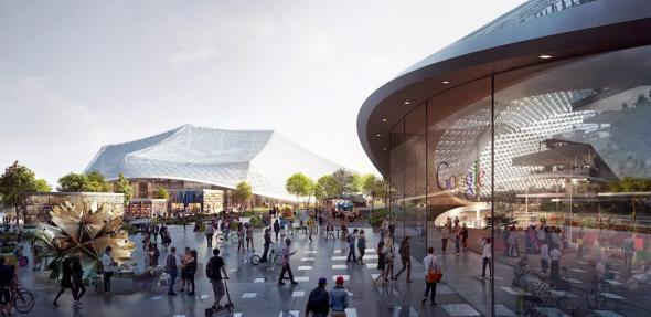 Google headquarters plans - outdoor activities