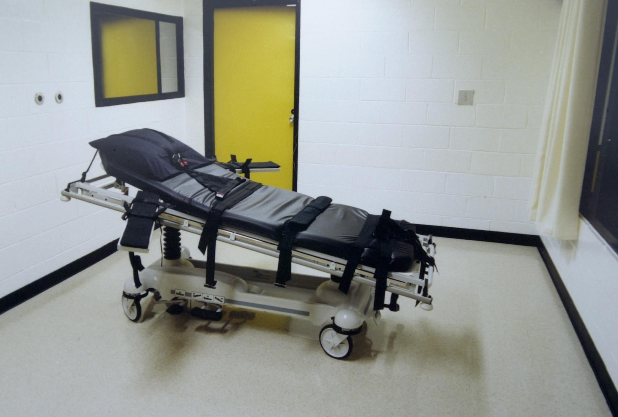 The death chamber at the Georgia Diagnostic Prison in Jackson, GA.