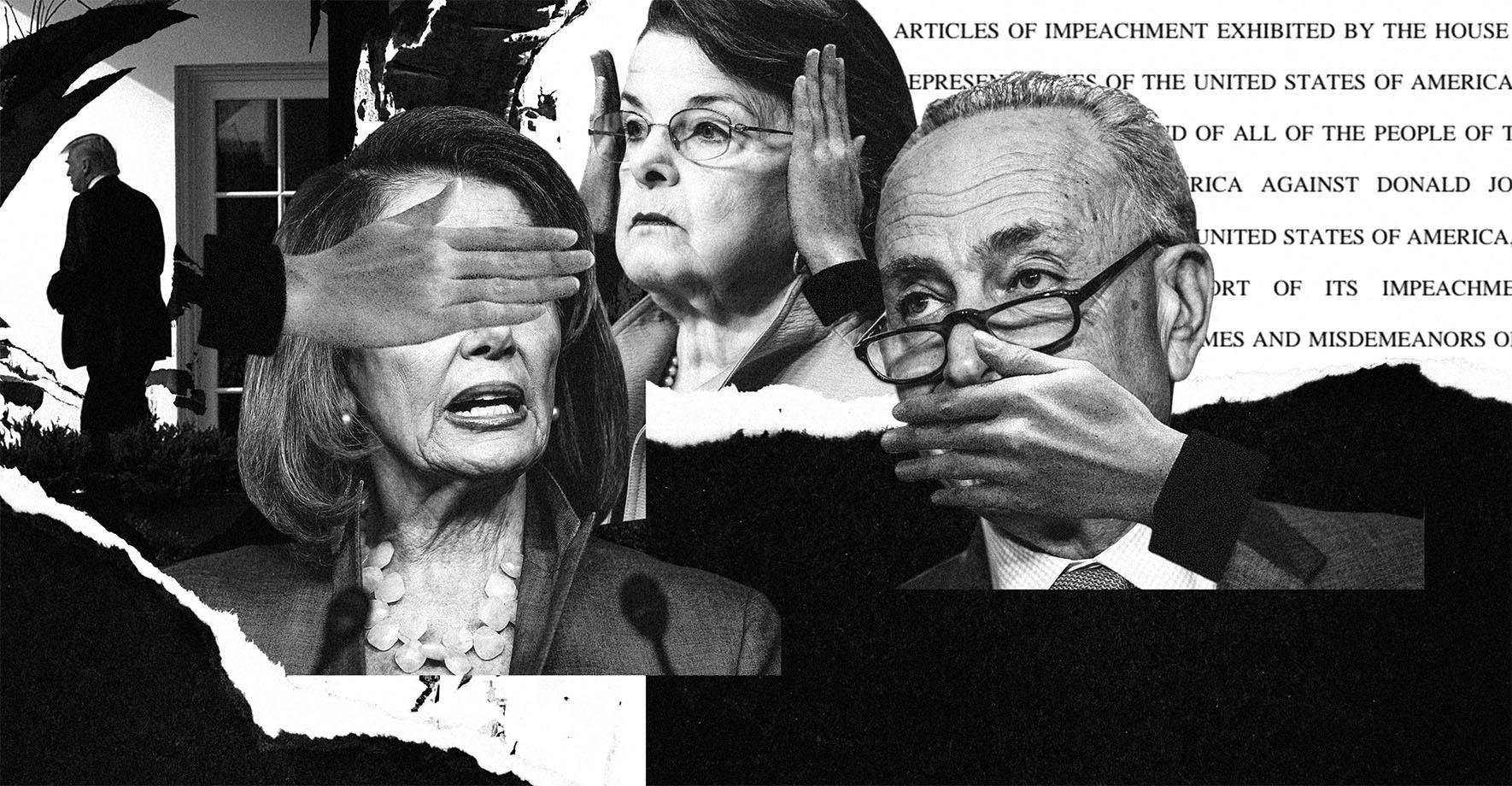 Nancy Pelosi, Dianne Feinstein, Charles Schumer.