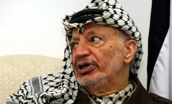 Palestinian leader Yasser Arafat speaks during his meeting with European Union.