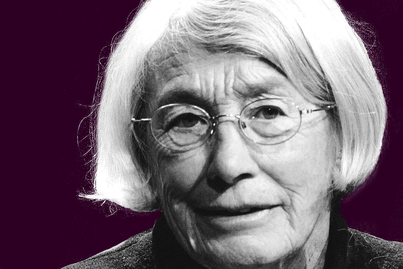 Photo illustration of Mary Oliver, as seen in California in 2010.