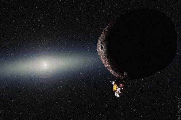 Pluto at a KBO