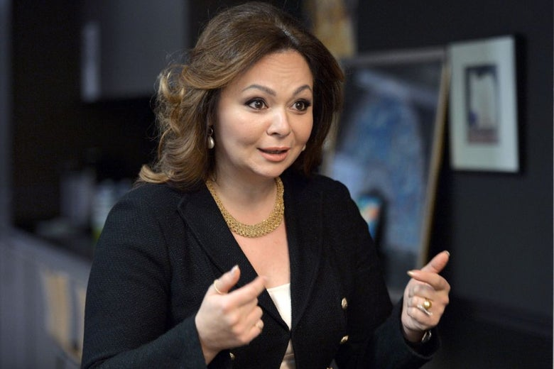 Lawyer Natalia Veselnitskaya during an interview.