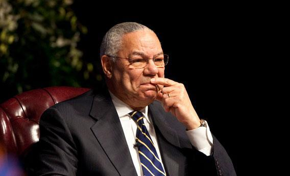 Former Chairman of the Joint Chiefs of staff and Secretary of State Colin Powell