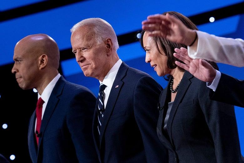 Cory Booker, Joe Biden, and Kamala Harris